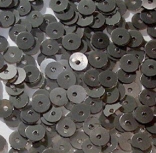 Value Pack 50g 5mm Satin (Matt) Gunmetal Flat Round Sequins.